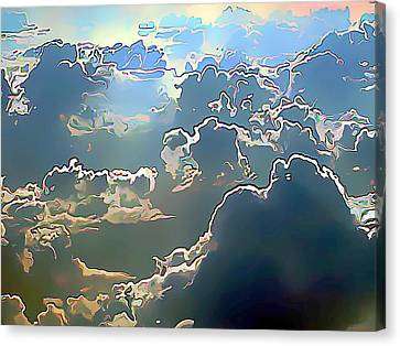 Clouds Painted In Air Canvas Print by Wernher Krutein