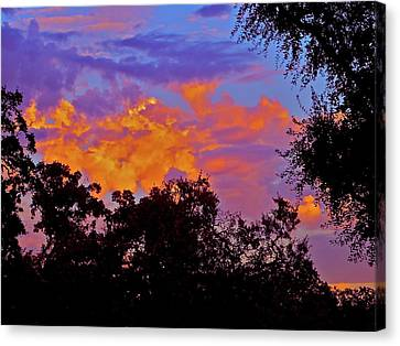 Canvas Print featuring the photograph Clouds by Pamela Cooper