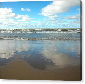 Clouds Reflecting Canvas Print