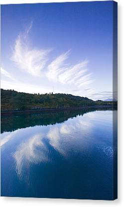 Clouds Reflecting In St.paul Harbor Canvas Print