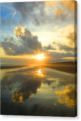Clouds Reflection By Jan Marvin Canvas Print