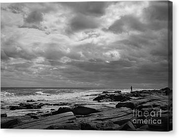 Clouds Rolling In Canvas Print by Diane Diederich