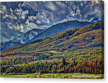 Clouds Sweating On Autumn Canvas Print by Brenton Cooper