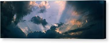 Clouds With God Rays Canvas Print