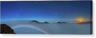 Cloudscape From Haleakala National Park Canvas Print by Walter Pacholka, Astropics