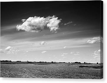 Cloudscape Over Land And Water Canvas Print