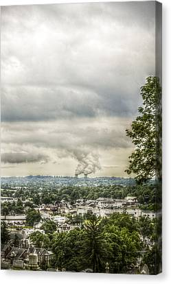 Cloudy At The Fairview Canvas Print by Trish Tritz