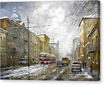 Cloudy Day Canvas Print by Dmitry Spiros