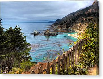 Cloudy Day In Big Sur Canvas Print