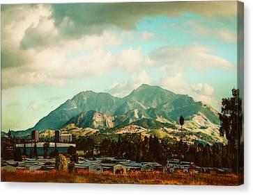 Cloudy Day On Mt Diablo In San Francisco Bay Area Canvas Print by Dorothy Walker