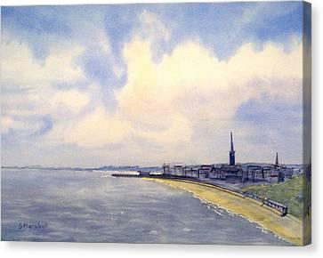 Cloudy Day Over Bridlington Canvas Print