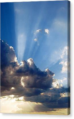 Cloudy Day Rays Canvas Print by Dorothy Berry-Lound