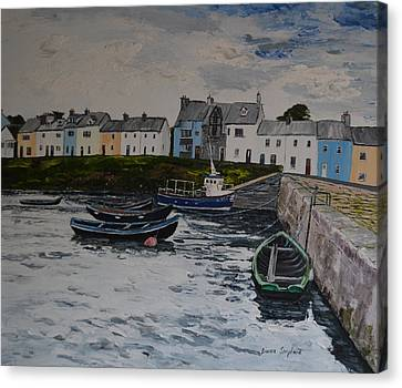 Cloudy Day Roundstone Connemara Canvas Print
