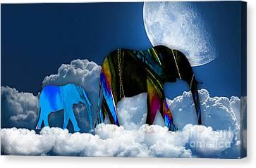 Cloudy Canvas Print by Marvin Blaine