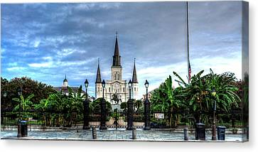Chrystal Canvas Print - Cloudy Morning At  St. Louis Cathedral by Chrystal Mimbs