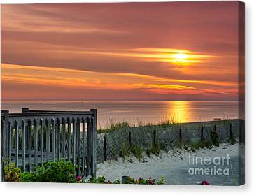 Canvas Print featuring the photograph Sandy Neck Beach Sunrise by Mike Ste Marie