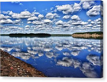 Cloudy Reflection Canvas Print by Scott Holmes