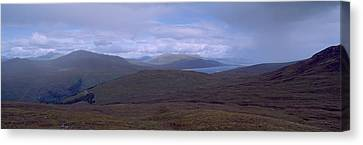 Cloudy Sky Over Hills, Blackwater Canvas Print