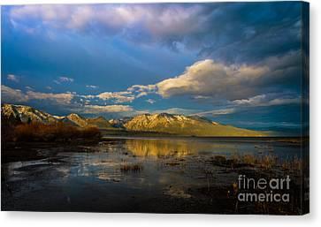 Cloudy Sunrise Canvas Print by Mitch Shindelbower
