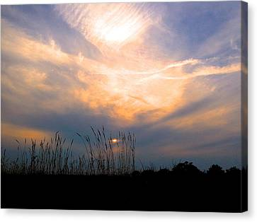 Cloudy Sunrise Canvas Print