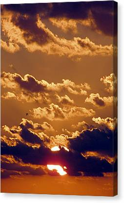 Key West Cloudy Sunset Canvas Print by Bob Slitzan