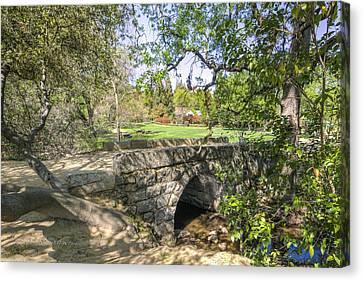 Clover Valley Park Bridge Canvas Print by Jim Thompson