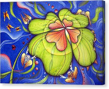 Cloverleaf Canvas Print