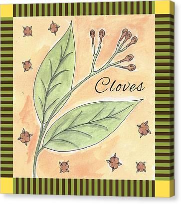 Cloves Garden Art Canvas Print by Christy Beckwith