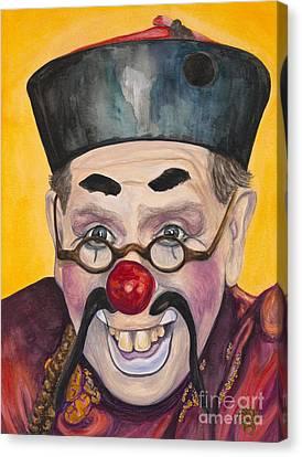 Watercolor Clown #15  Bill Gillespie Canvas Print by Patty Vicknair