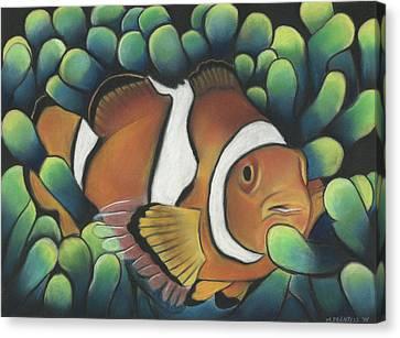Clown Fish Canvas Print by Michael Prentiss