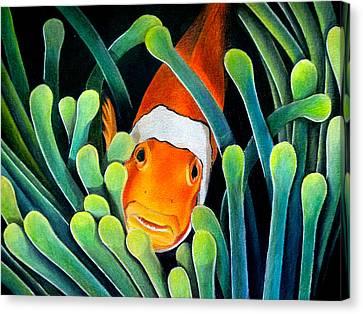 Clown Fish Canvas Print by Obibi Art