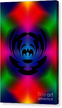 Clown In Color Canvas Print by Steve Purnell