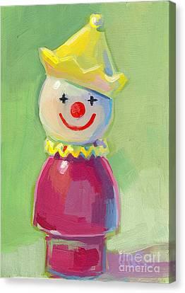 Clown Canvas Print by Kimberly Santini