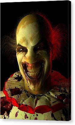Clown Canvas Print by Matt Lindley
