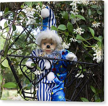 Clown Outdoors 4 Canvas Print by William Patrick