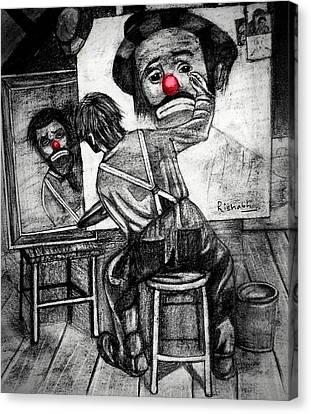 Clown Canvas Print by Rishabh Ranjan