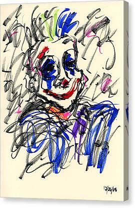 Clown Thug I Canvas Print by Rachel Scott