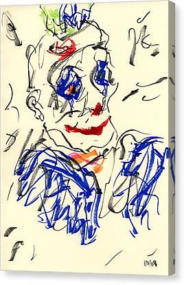 Clown Thug II Canvas Print by Rachel Scott