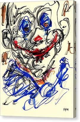 Clown Thug V Canvas Print by Rachel Scott