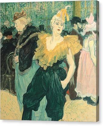 Clowness Cha-u-kao At Moulin Rouge Canvas Print