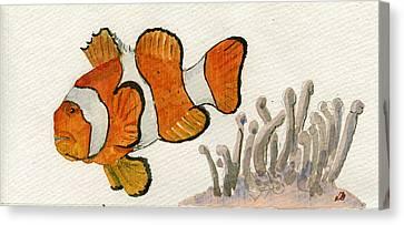 Clownfish  Canvas Print by Juan  Bosco