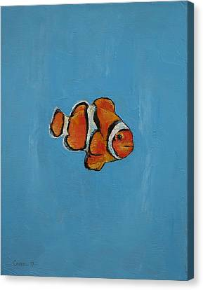 Clownfish Canvas Print by Michael Creese