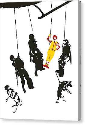 Banksy Canvas Print - Clownin' Around by Sue Rowe