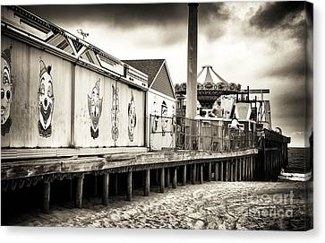 Clowns On The Pier Canvas Print by John Rizzuto