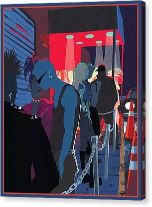 Club Kids Canvas Print by Clifford Faust