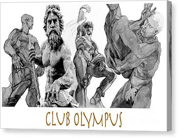 Club Olympus Canvas Print by Greta Corens