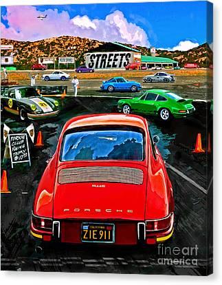Club Racing Canvas Print by Alan Greene