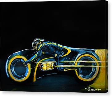 Tron Canvas Print - Clu's Lightcycle by Kayleigh Semeniuk