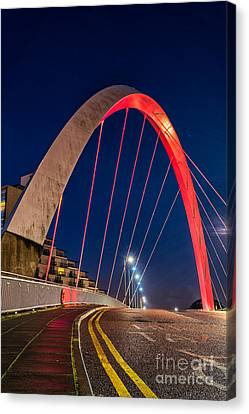 Clyde Arc Glasgow  Canvas Print by John Farnan