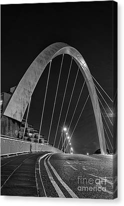 City Of Bridges Canvas Print - Clyde Arc Glasgow Squinty Bridge by John Farnan